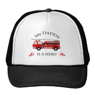 Camion de pompiers - mon papa est un HÉROS Casquette De Camionneur