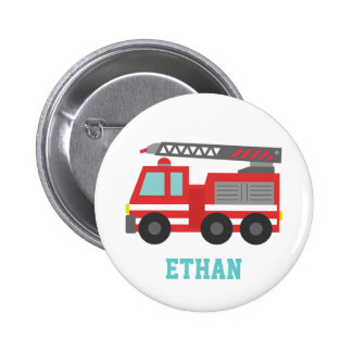 Camion de pompiers rouge mignon pour de petits pom badges
