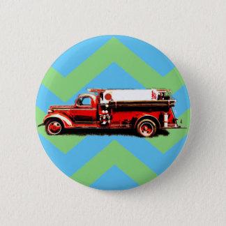 Camion de pompiers vintage rouge badges
