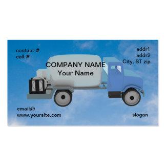camion de propane sur le ciel bleu carte de visite