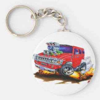 Camion de rouge de H2 de Hummer Porte-clé Rond