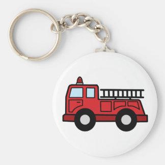 Camion de véhicule de secours de Firetruck de Porte-clé Rond