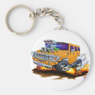 Camion d'orange de H2 de Hummer Porte-clé Rond