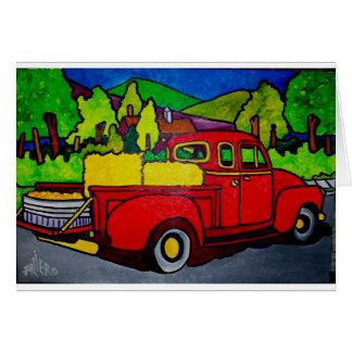 Camion rouge par Pilieo Carte De Vœux