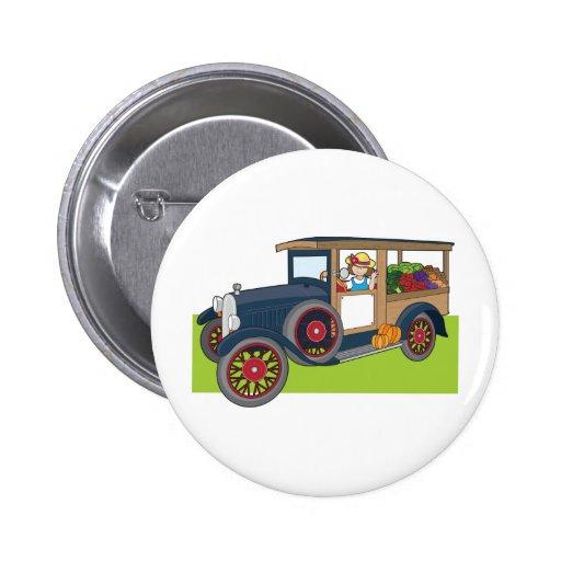 Camion végétarien badges avec agrafe