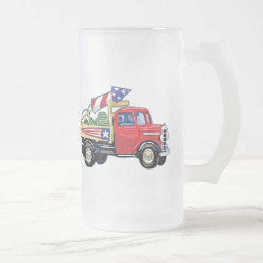 Camion vintage 4 juillet tasse à café