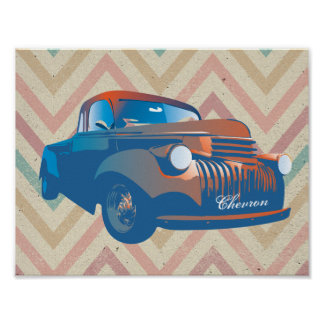 Camion vintage poster