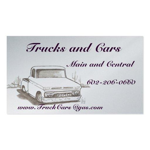Camions, cartes de visite de voitures carte de visite