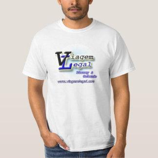Camiseta Básica Branca - Viagem juridique T-shirts