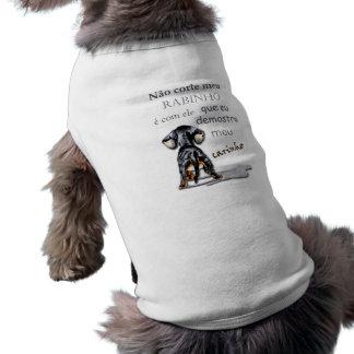 Camisetinha pour chien avec phrase t-shirt pour chien