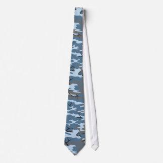 Camo bleu cravates