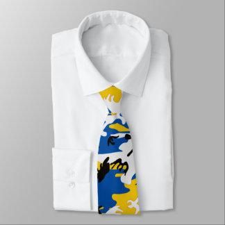 Camo bleu et jaune cravates