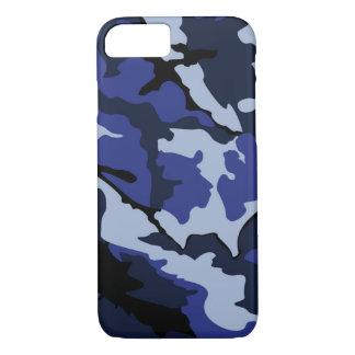 Camo bleu, iPhone 7, à peine là cas Coque iPhone 7