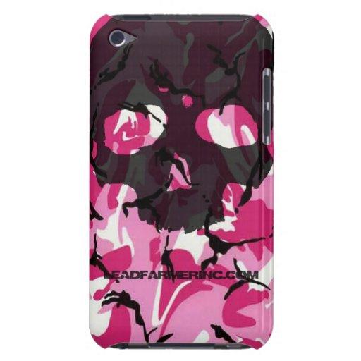 Camo de rose de crâne de robinet de double de LFI  Étui Barely There iPod