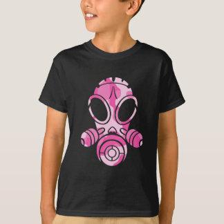 camo de rose de masque de gaz t-shirt