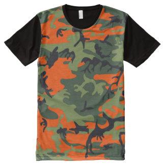 camo d'orange de chasseur t-shirt tout imprimé