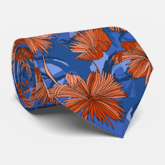 Camo fleurit le Simple-side bleu floral imprimé Cravate