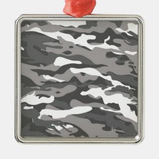 Camo gris ornement carré argenté