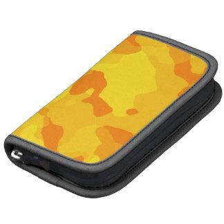 Camo jaune ambre ; Camouflage Agenda Folio