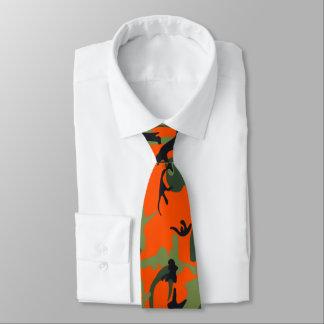 Camo orange et vert de sécurité cravates