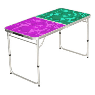 Camo pourpre contre la turquoise Camo Table Beerpong