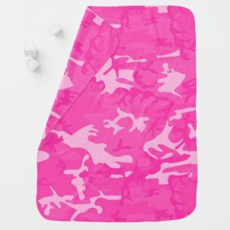 Camo rose couverture de bébé
