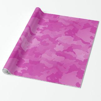 Camo rose papier cadeau