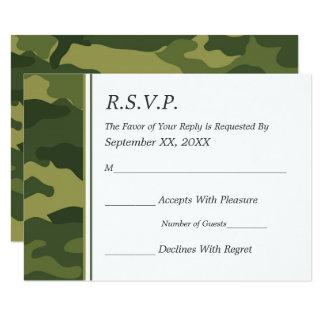 Camo RSVP l'épousant militaire Carton D'invitation 8,89 Cm X 12,70 Cm