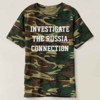 """CAMO T AVEC """"ÉTUDIENT LA CONNEXION DE LA RUSSIE """" T-SHIRT"""