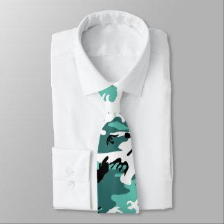 Camo turquoise cravate