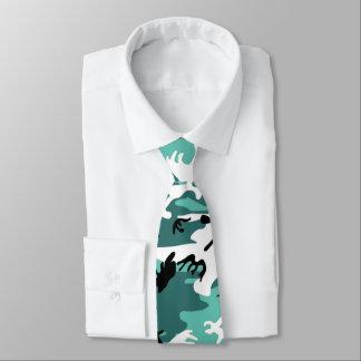 Camo turquoise cravates