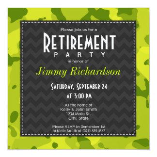 Camo vert acide ; Invitation de partie de retraite