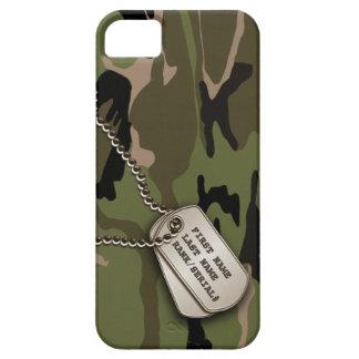 Camo vert militaire avec l'étiquette de chien étui iPhone 5