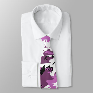 Camo violet cravates