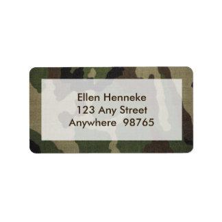 Camouflage 1 étiquette d'adresse