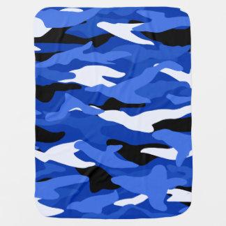 Camouflage bleu couvertures de bébé