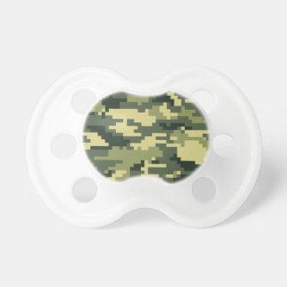 Camouflage/Camo de région boisée de pixel de 8 Tétine