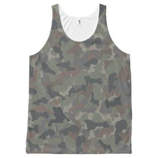 Camouflage d'armée débardeur tout-imprimé