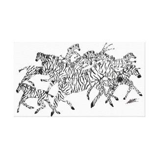 Camouflage de confusion de zèbre - blanc de toile