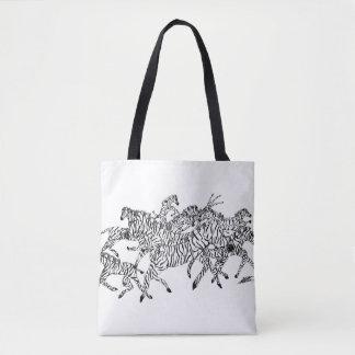 Camouflage de confusion de zèbre - sac fourre-tout