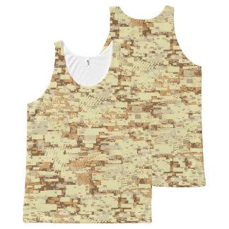 Camouflage de désert de bloc débardeur tout-imprimé