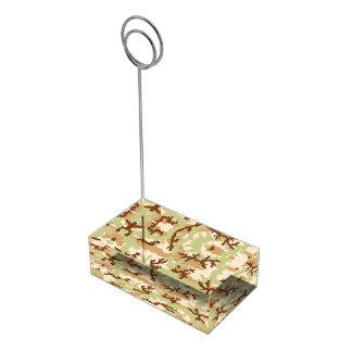 Camouflage de désert porte-cartes de  table