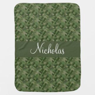 Camouflage de vert forêt couvertures pour bébé