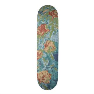 Camouflage et fleurs planches à roulettes