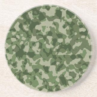 Camouflage militaire de vert de jungle dessous de verre