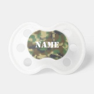 Camouflage personnalisé de pixel tétines pour bébé