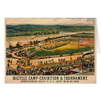 Camp 1883 de bicyclette carte de vœux