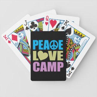 Camp d'amour de paix jeu de poker