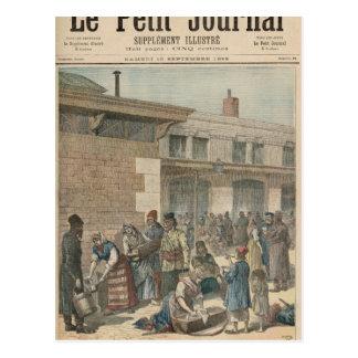 Camp de réfugié juif carte postale