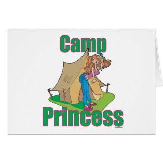 Camp-Princesse Carte De Vœux